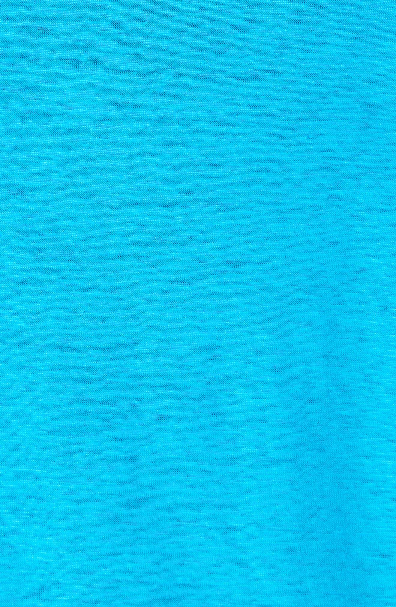,                             Linen Jersey T-Shirt,                             Alternate thumbnail 5, color,                             SEYCHELLES