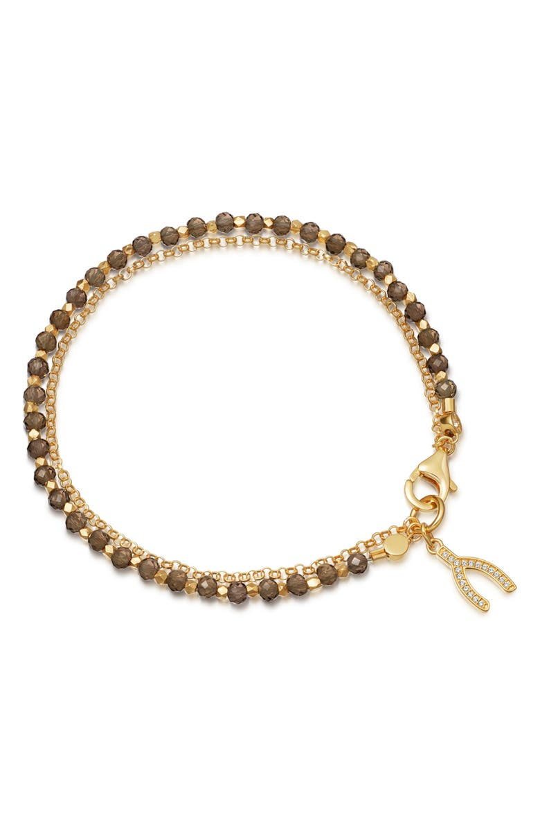 ASTLEY CLARKE Smoky Quartz Wishbone Biography Bracelet, Main, color, YELLOW GOLD/ SMOKY QUARTZ