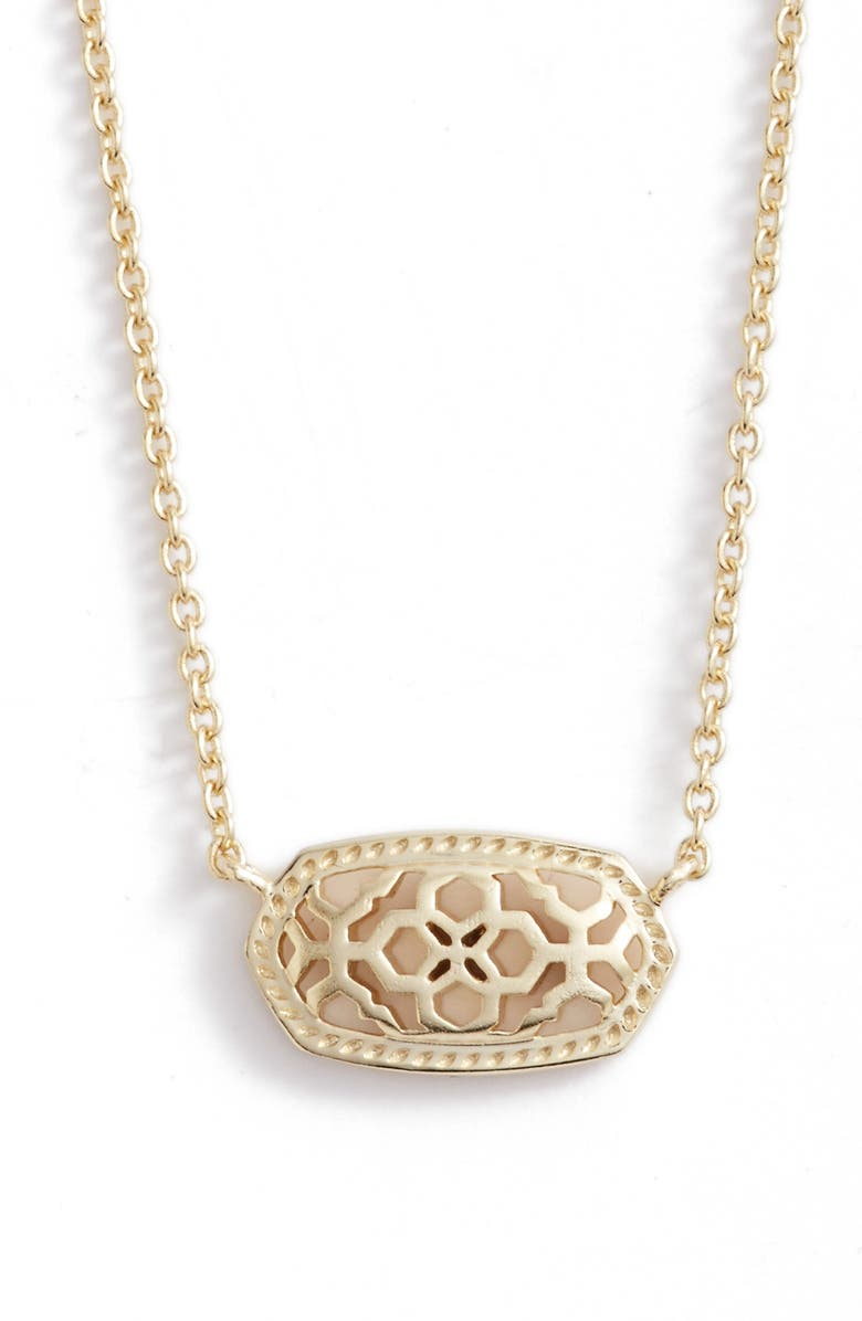 KENDRA SCOTT Elisa Pendant Necklace, Main, color, GOLD FILIGREE