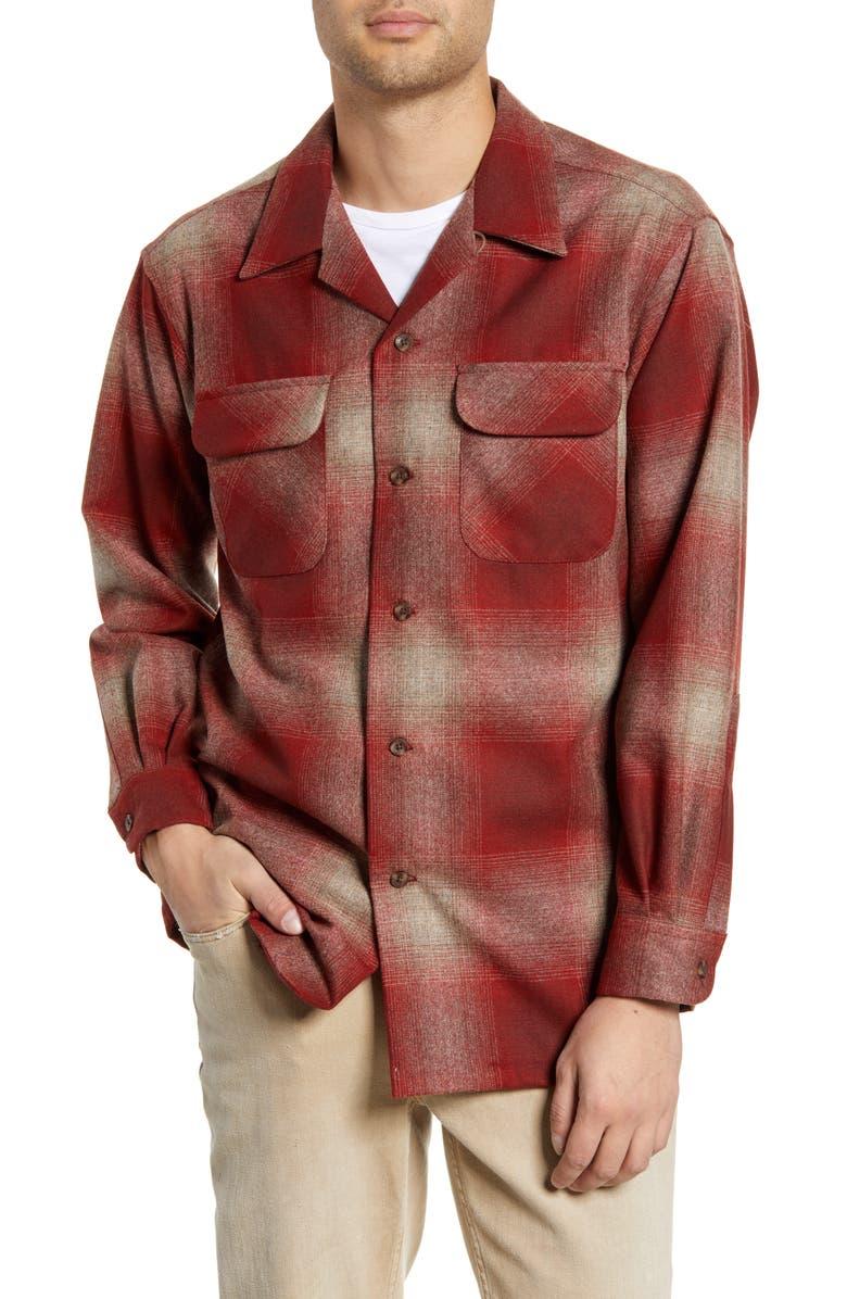 PENDLETON Board Wool Flannel Shirt, Main, color, 605