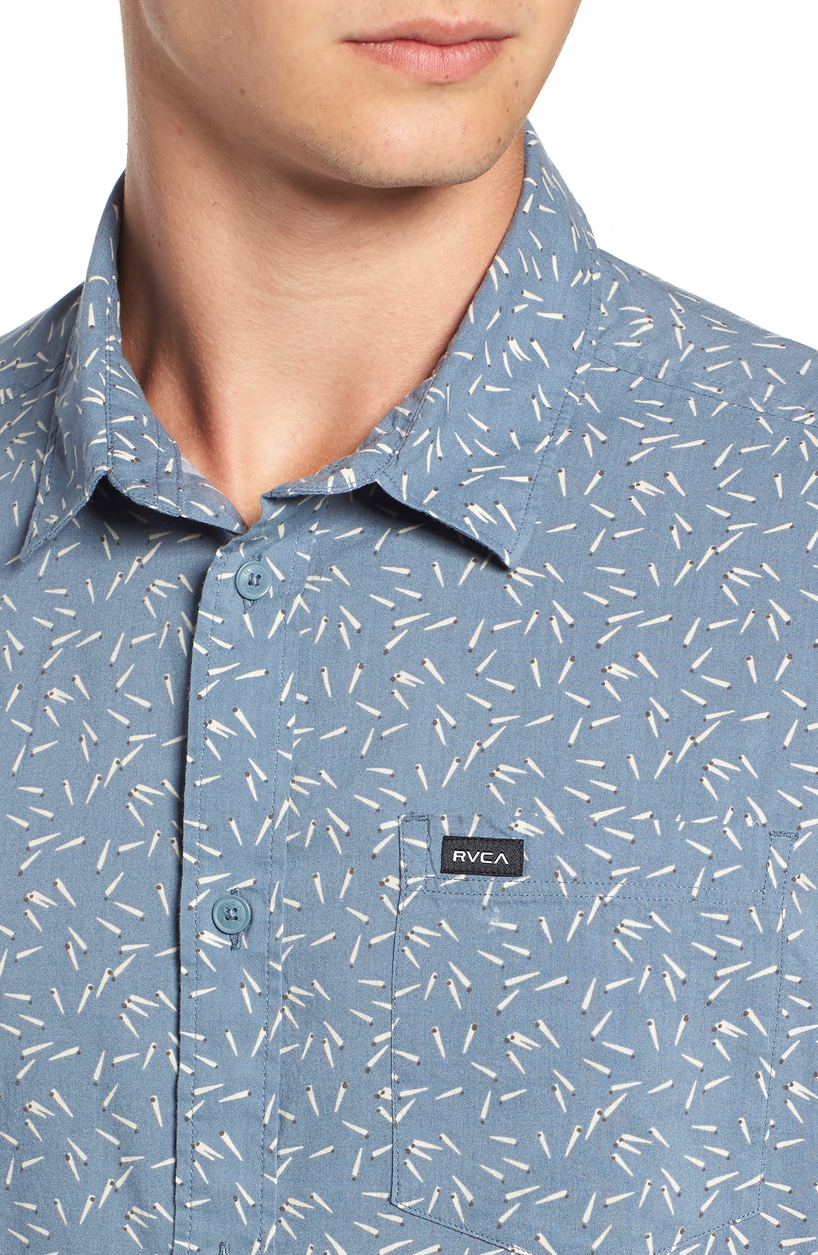 ,                             Pins & Needles Slim Fit Woven Shirt,                             Alternate thumbnail 7, color,                             434