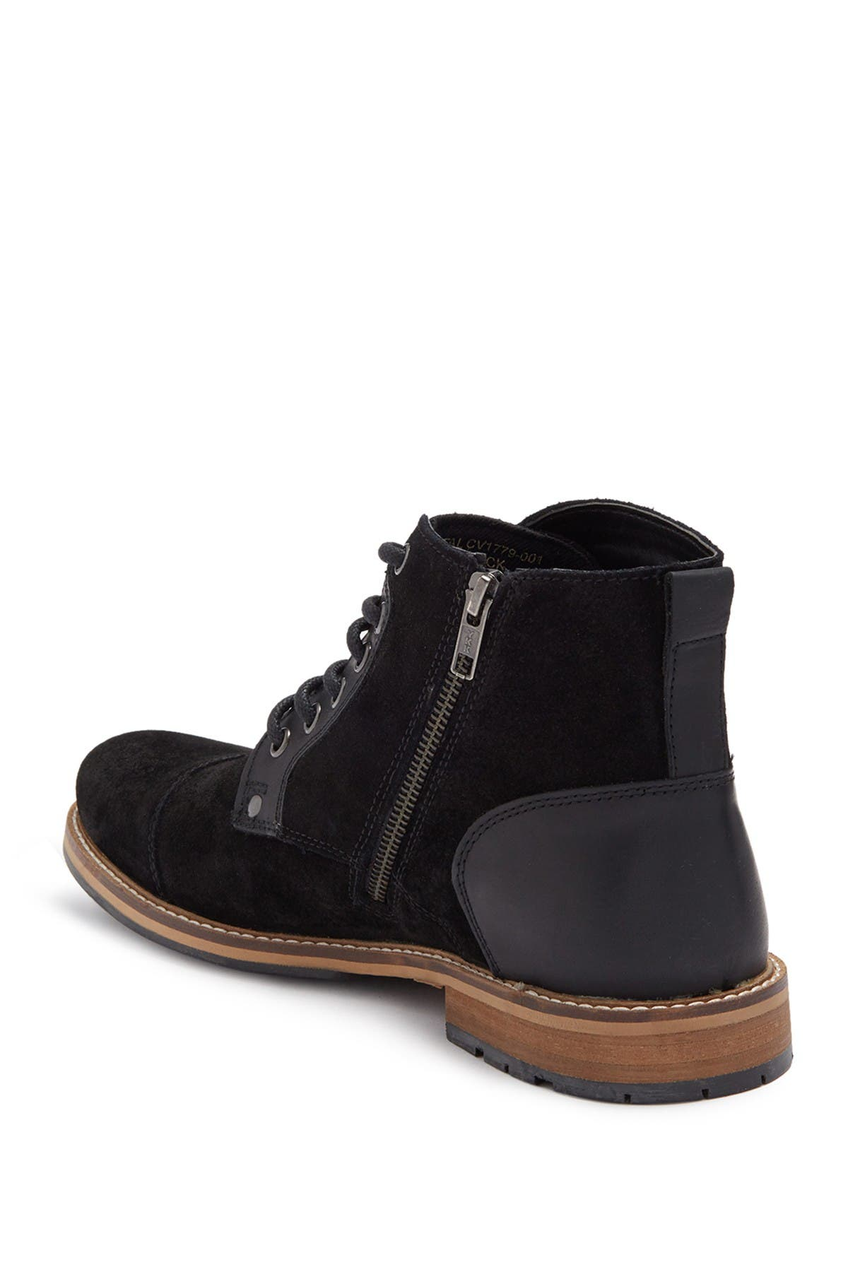 Image of Crevo Neal Leather Trim Lace-Up Boot