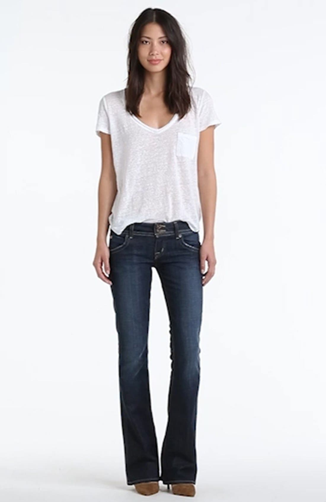,                             Signature Flap Pocket Bootcut Jeans,                             Alternate thumbnail 42, color,                             434