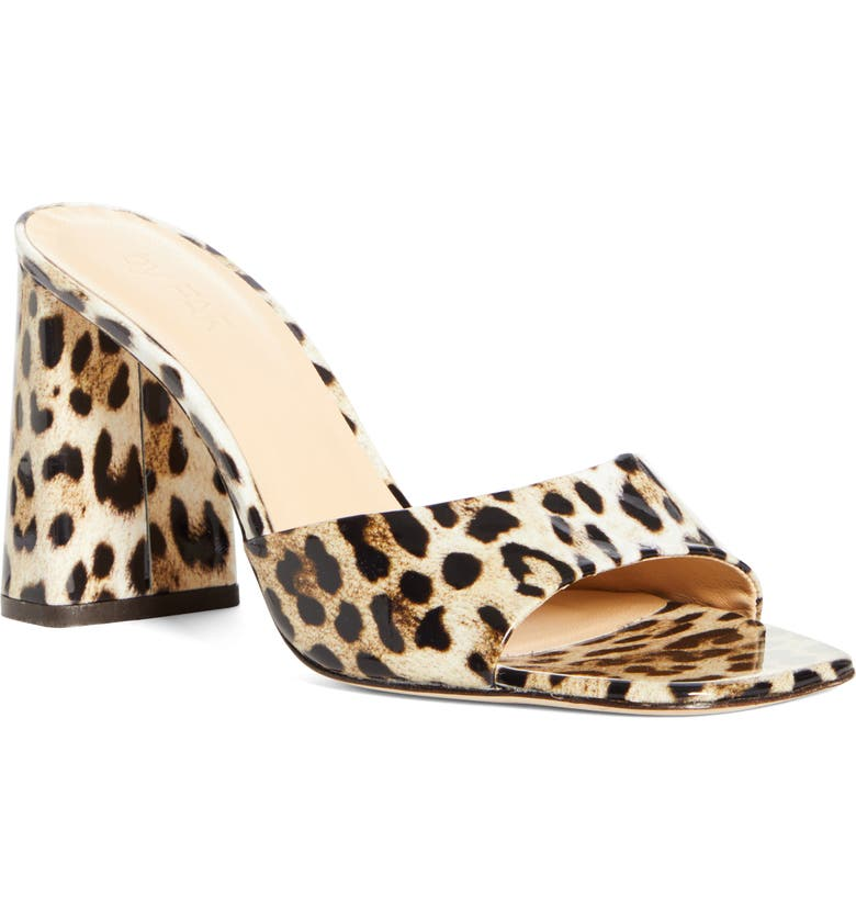 BY FAR Juju Leopard Print Slide Sandal, Main, color, 250