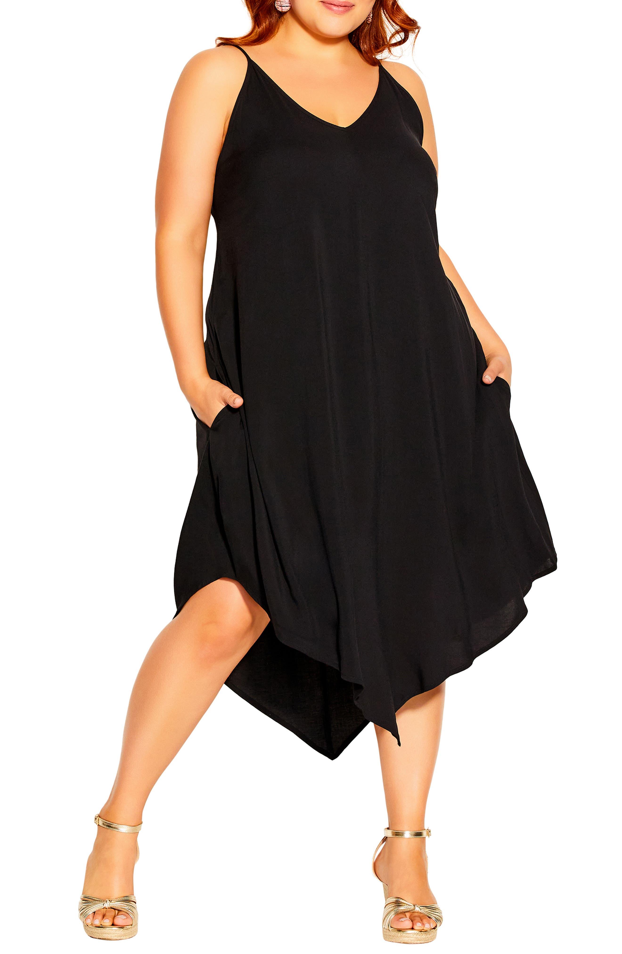 Sweet V Asymmetric Hem Dress