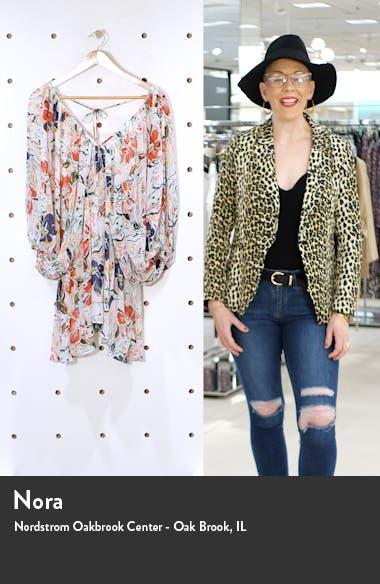 Floral Print Long Sleeve Minidress, sales video thumbnail