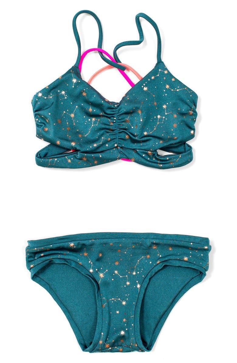BOWIE X JAMES Clara Reversible Two-Piece Swimsuit, Main, color, 445