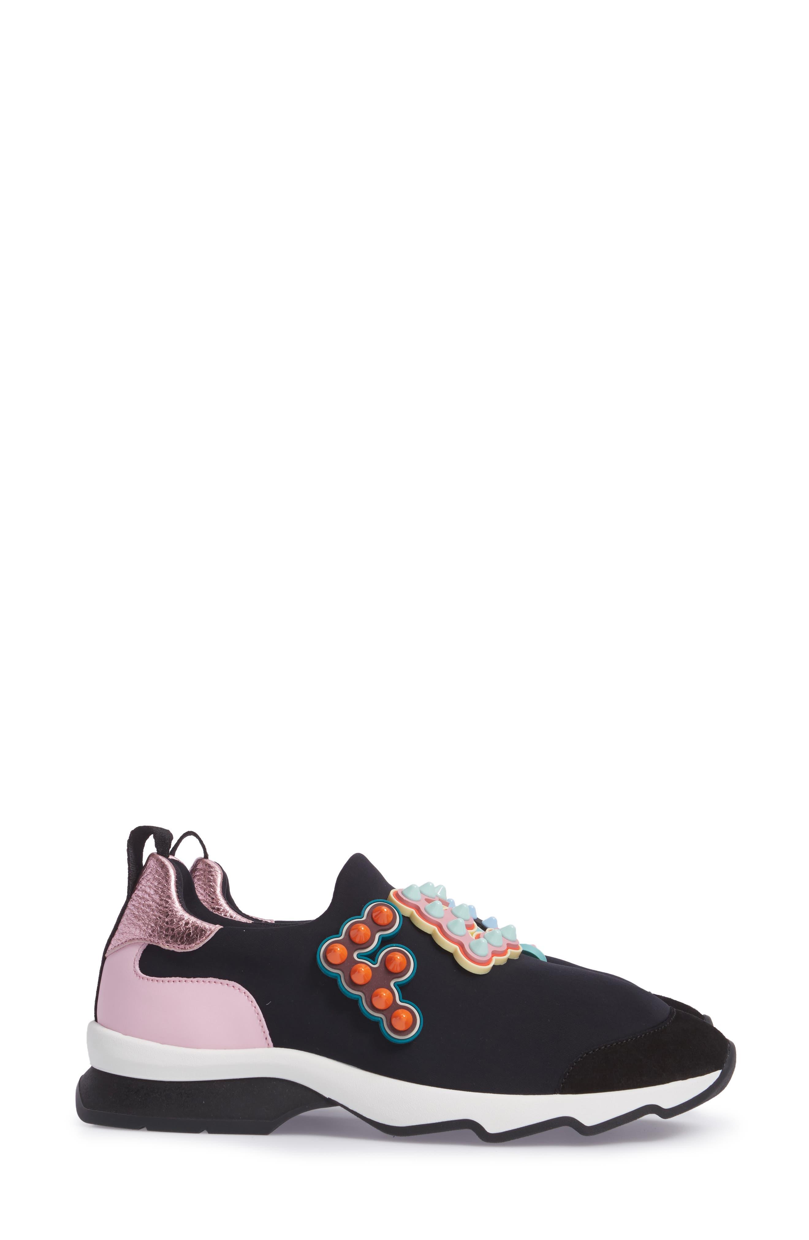 ,                             Logo Slip-On Sneaker,                             Alternate thumbnail 3, color,                             BLACK
