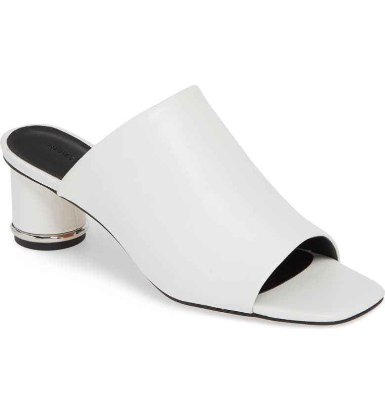REBECCA MINKOFF Aceline Slide Sandal, Main, color, OPTIC WHITE LEATHER
