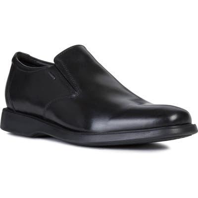 Geox Brayden 2Fit Abx Venetian Waterproof Loafer - Black