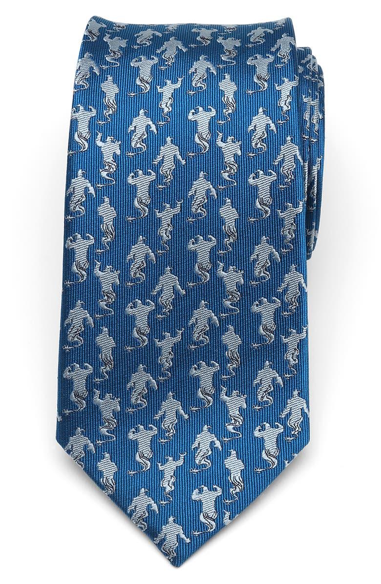 CUFFLINKS, INC. Genie Print Silk Tie, Main, color, BLUE