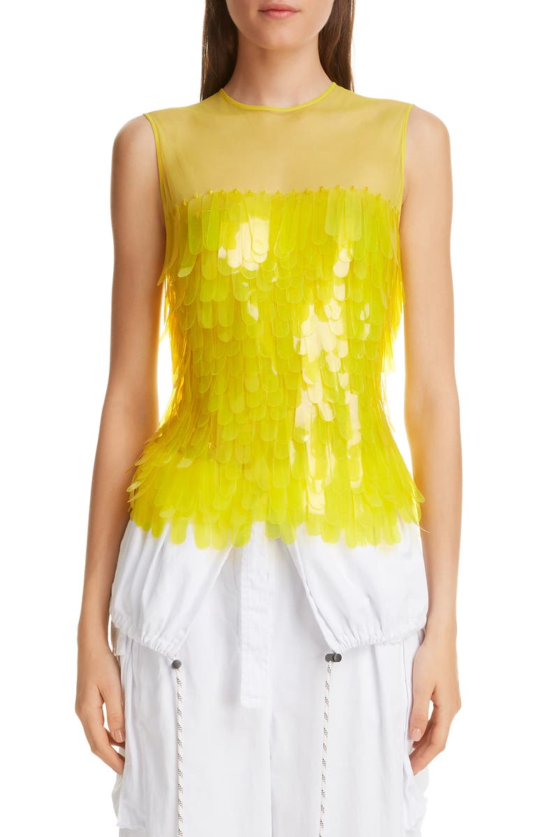 DRIES VAN NOTEN Fish Scale Embellished Top, Main, color, 700