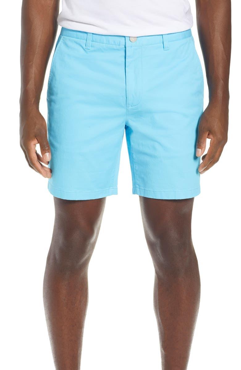 BONOBOS Stretch Washed Chino 7-Inch Shorts, Main, color, AQUARIUS