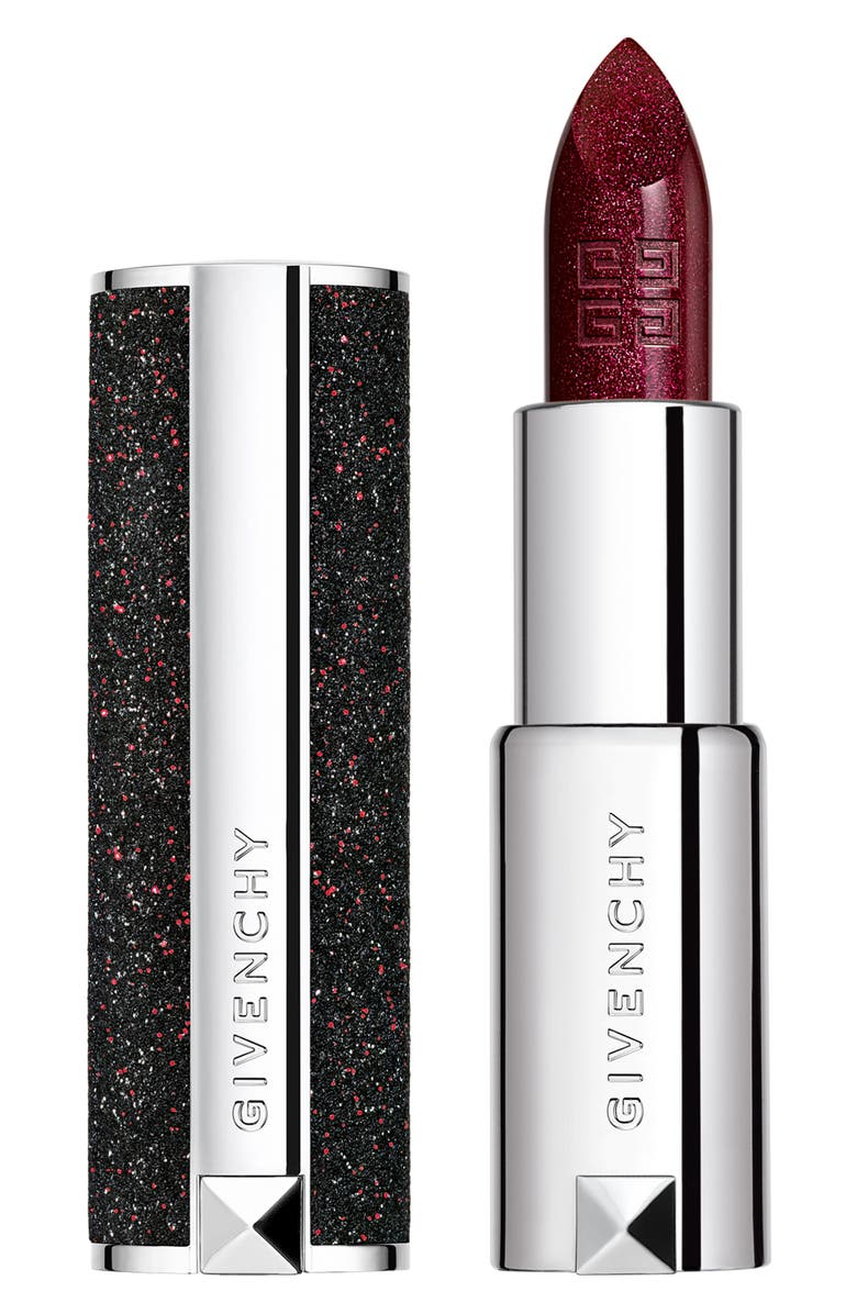 GIVENCHY Le Rouge Night Noir Sheer Sparkling Lipstick, Main, color, 2 NIGHT RED