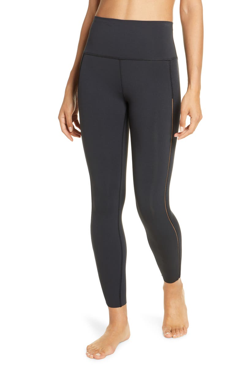 NIKE Yoga Luxe 7/8 Tights, Main, color, BLACK/DKSKGY