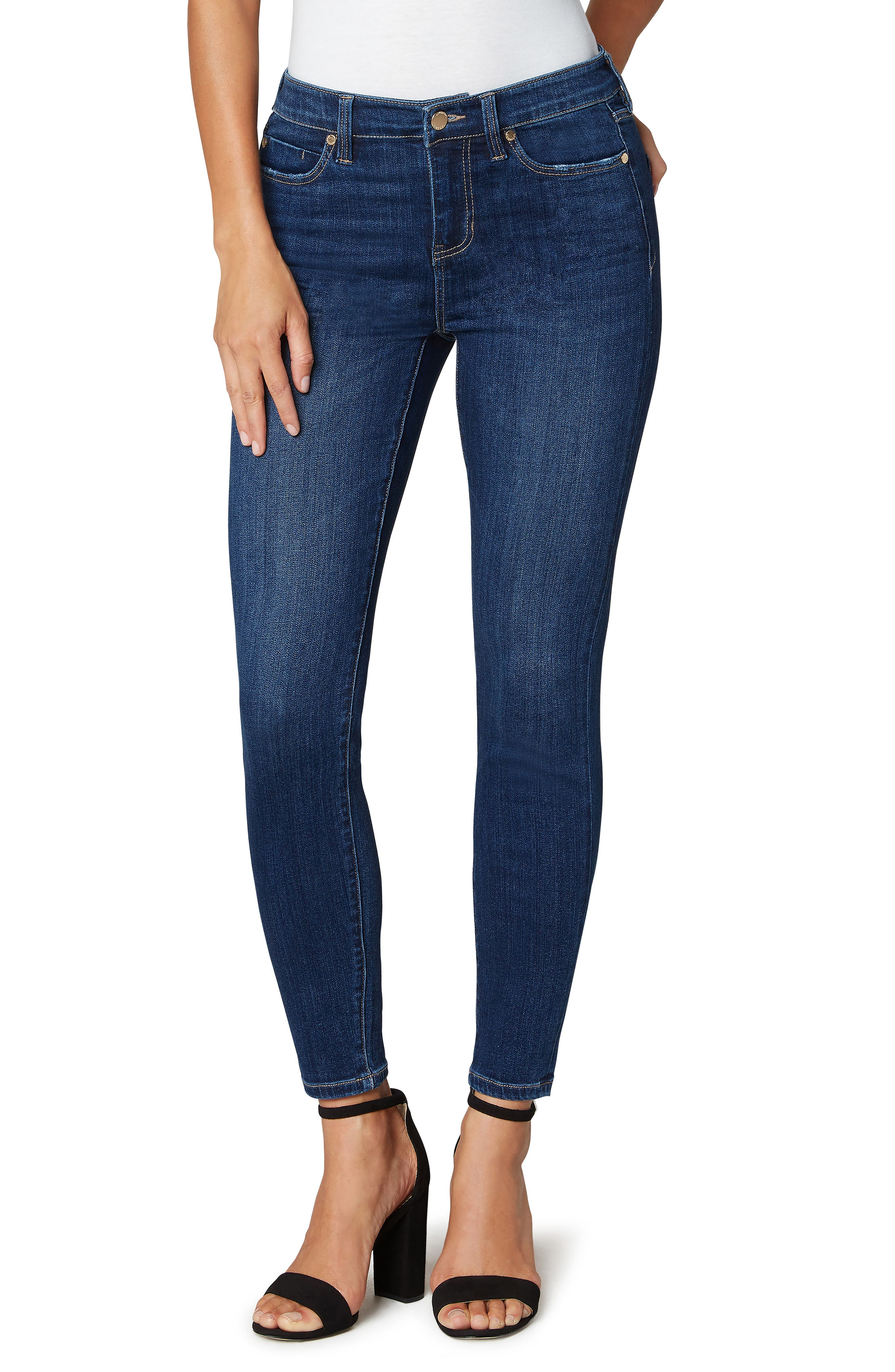 High Rise Stretch Ankle Skinny Jeans
