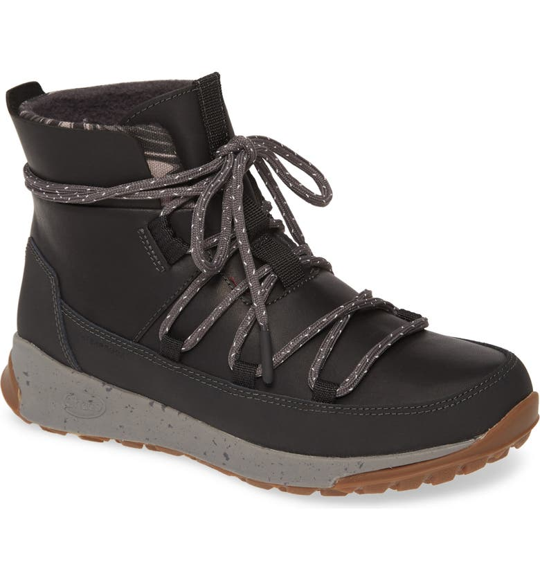 CHACO Borealis Peak Waterproof Lace-Up Boot, Main, color, BLACK LEATHER
