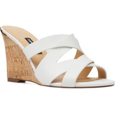 Nine West Lila Wedge Slide Sandal, White