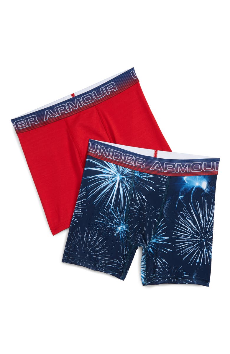 4005300981 Under Armour 2-Pack Fireworks Boxer Briefs (Big Boys)   Nordstrom