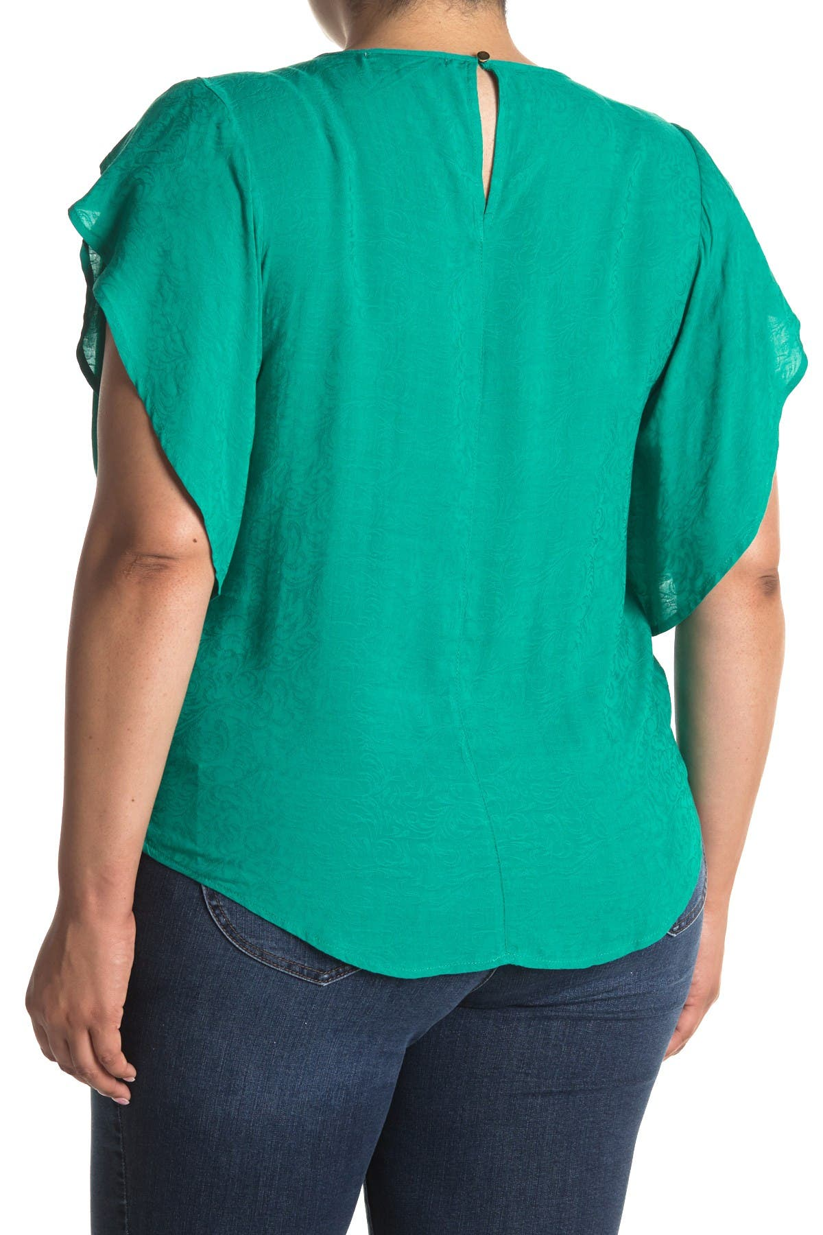 Image of 14TH PLACE Tulip Sleeve Blouse