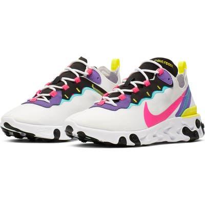 Nike React Element 55 Sneaker- White