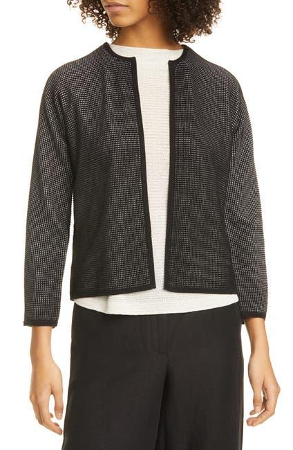 Image of Eileen Fisher Textured Silk & Organic Cotton Cardigan