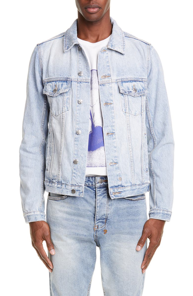 KSUBI Karma Denim Jacket, Main, color, DENIM