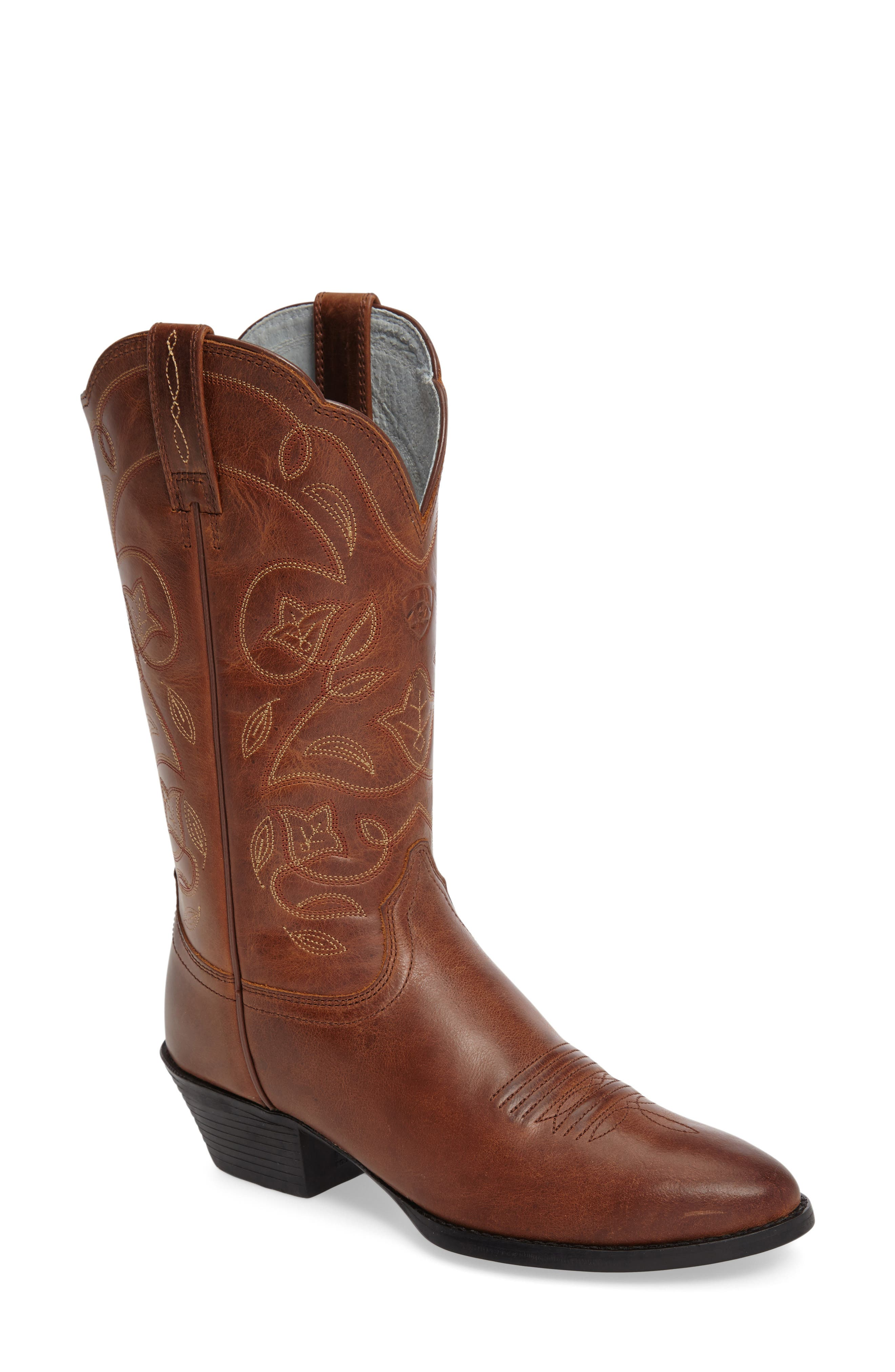 ,                             Heritage Western R-Toe Boot,                             Main thumbnail 1, color,                             RUSSET REBEL LEATHER