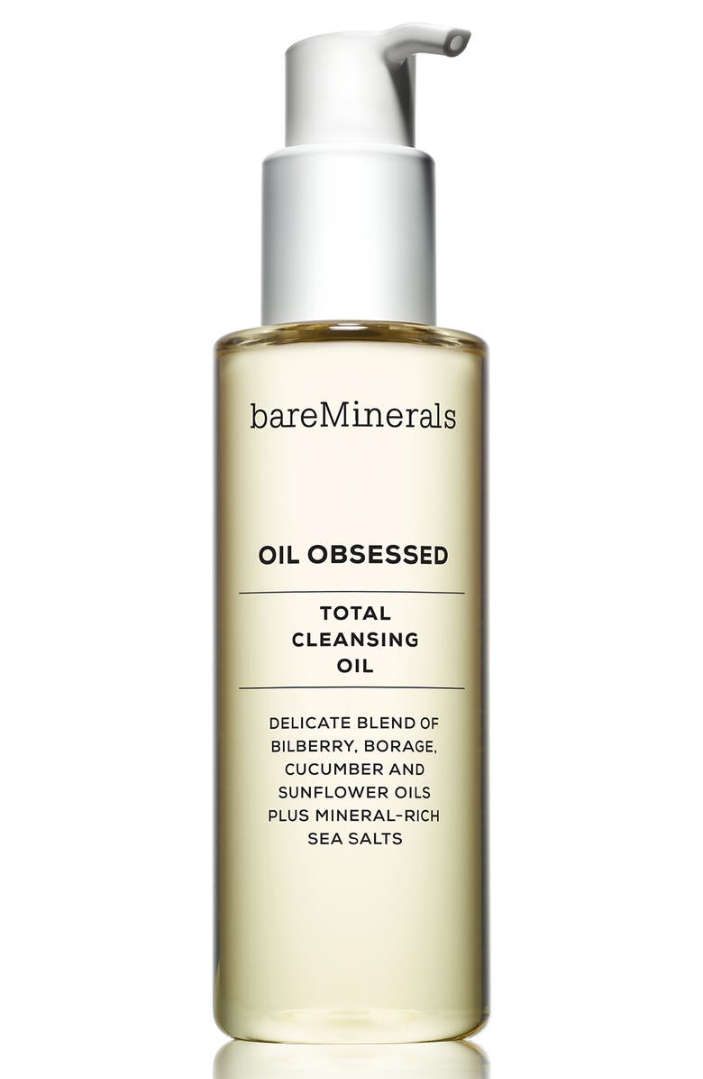 BAREMINERALS<SUP>®</SUP> Oil Obsessed Total Cleansing Oil, Main, color, NO COLOR