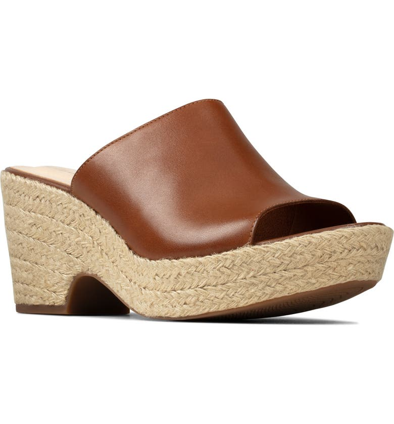 CLARKS<SUP>®</SUP> Maritsa Platform Mule, Main, color, TAN LEATHER