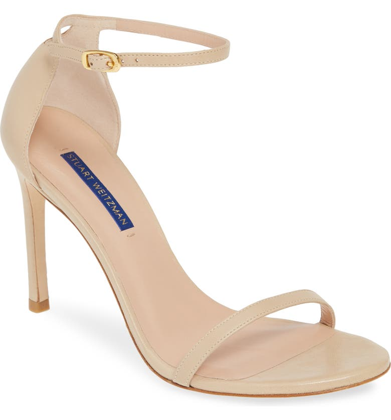 STUART WEITZMAN Nudistsong Ankle Strap Sandal, Main, color, BAMBINA DRESS NAPPA
