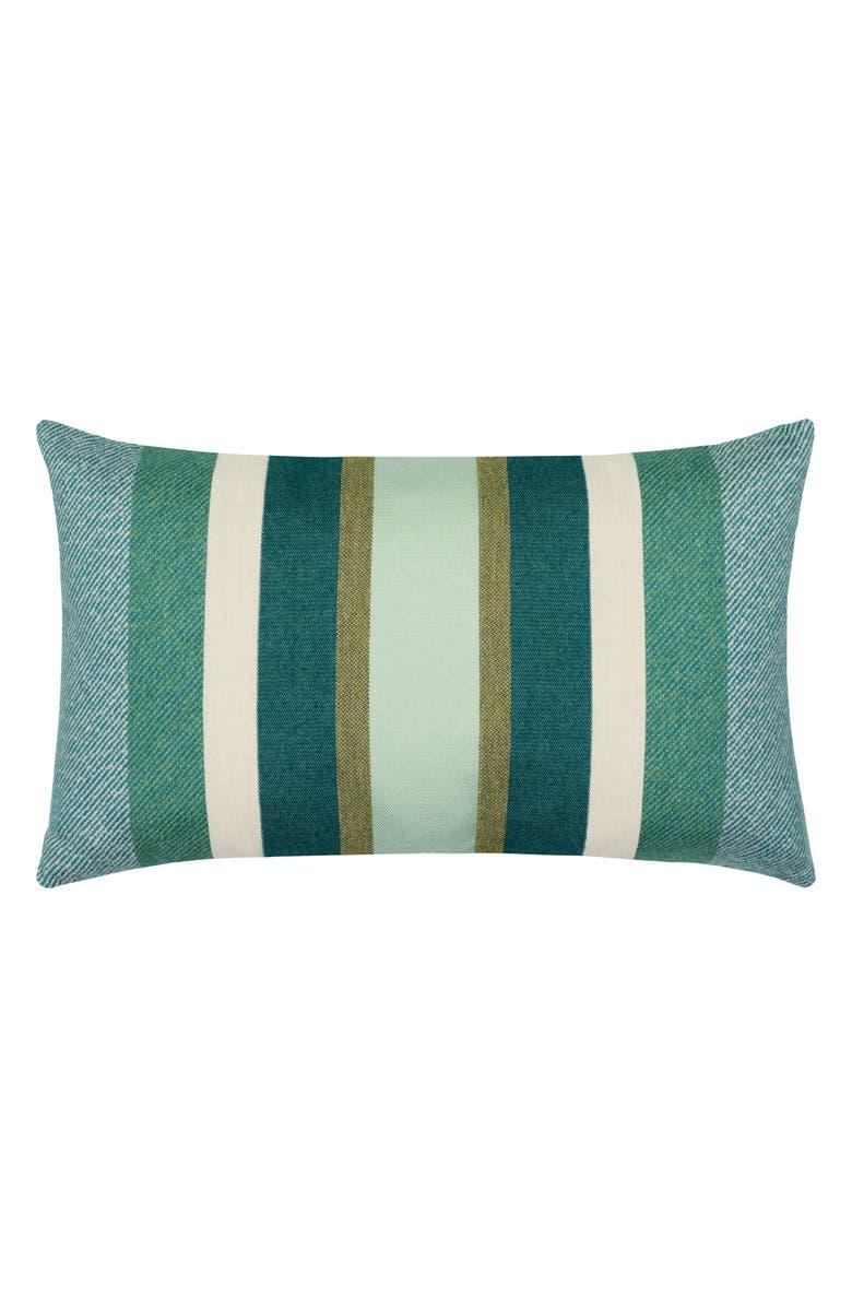 ELAINE SMITH Juniper Stripe Indoor/Outdoor Lumbar Accent Pillow, Main, color, BLUE MULTI