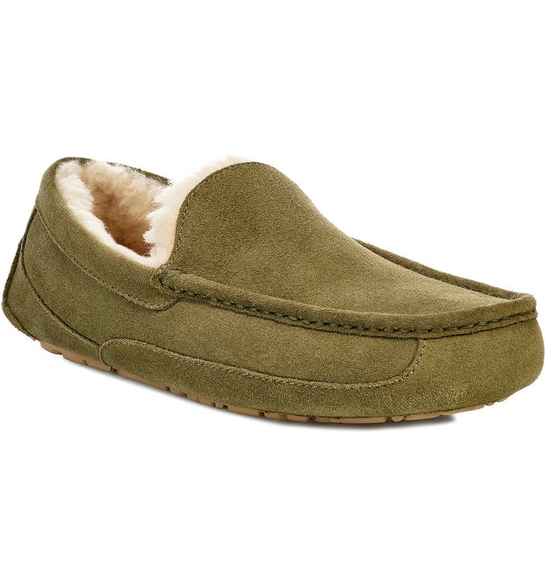 UGG<SUP>®</SUP> Ascot Slipper, Main, color, MOSS GREEN SUEDE