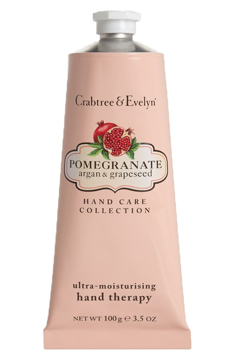 CRABTREE & EVELYN 'Pomegranate, Argan & Grapeseed Oil' Ultra-Moisturising Hand Therapy, Main, color, 000