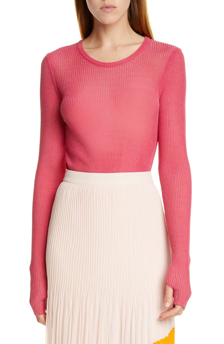 HUGO Smeraldy Top, Main, color, CERISE