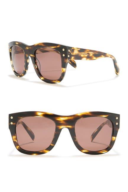 Image of Alexander McQueen 56mm Square Oversized Core Sunglasses