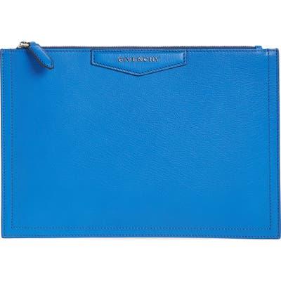 Givenchy Medium Antigona Leather Pouch - Blue