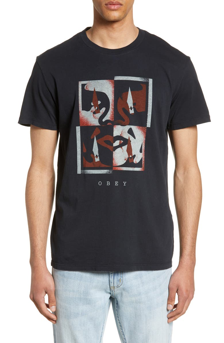 OBEY Blade Icon Graphic T-Shirt, Main, color, 001