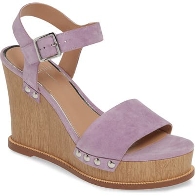 Linea Paolo Ellis High Wedge Sandal- Purple