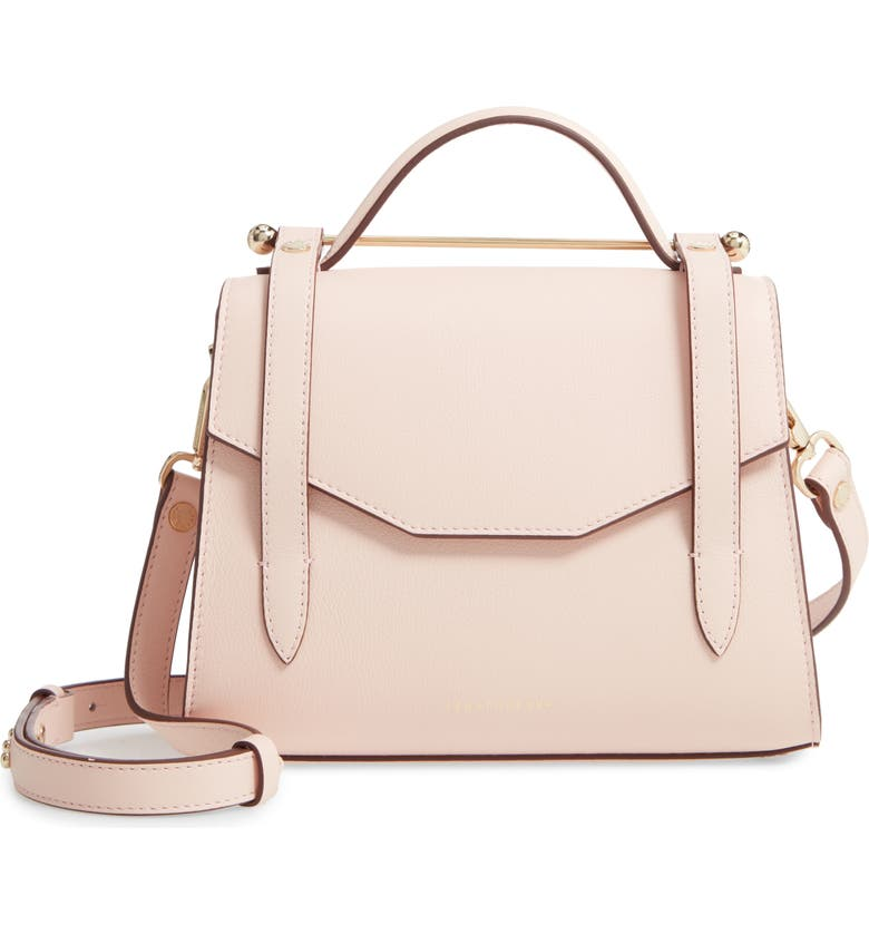 STRATHBERRY Mini Allegro Calfskin Leather Tote, Main, color, SOFT PINK