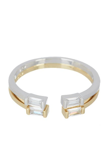 Image of Nordstrom Rack CZ Emerald Cut Rings - Set of 2