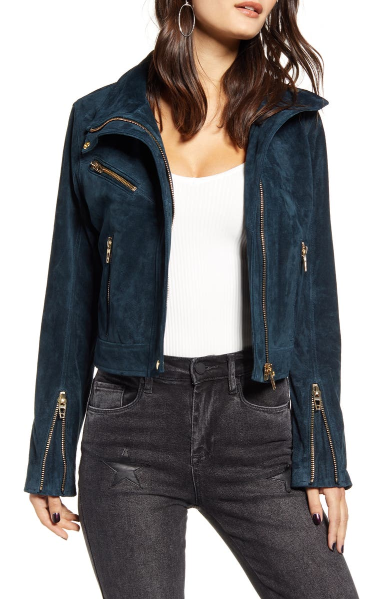 BLANKNYC Suede Moto Jacket, Main, color, 440