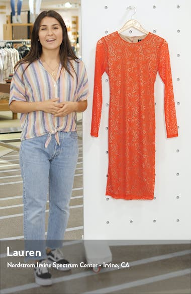Rini Lace Long Sleeve Body-Con Dress, sales video thumbnail