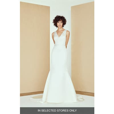 Nouvelle Amsale Jasper Satin Mermaid Wedding Dress, Size IN STORE ONLY - Ivory
