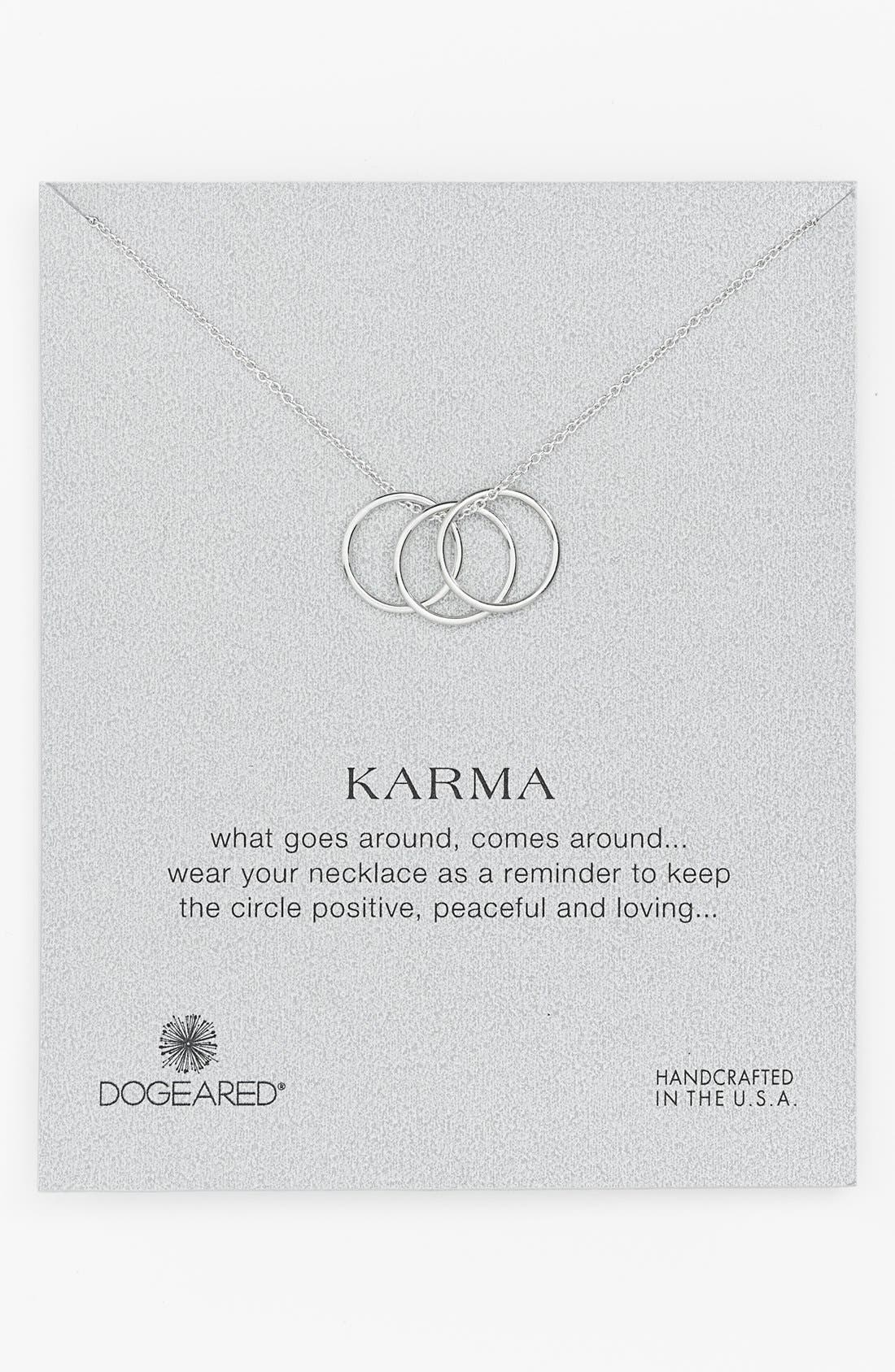 ,                             'Karma' Charm Necklace,                             Main thumbnail 1, color,                             040