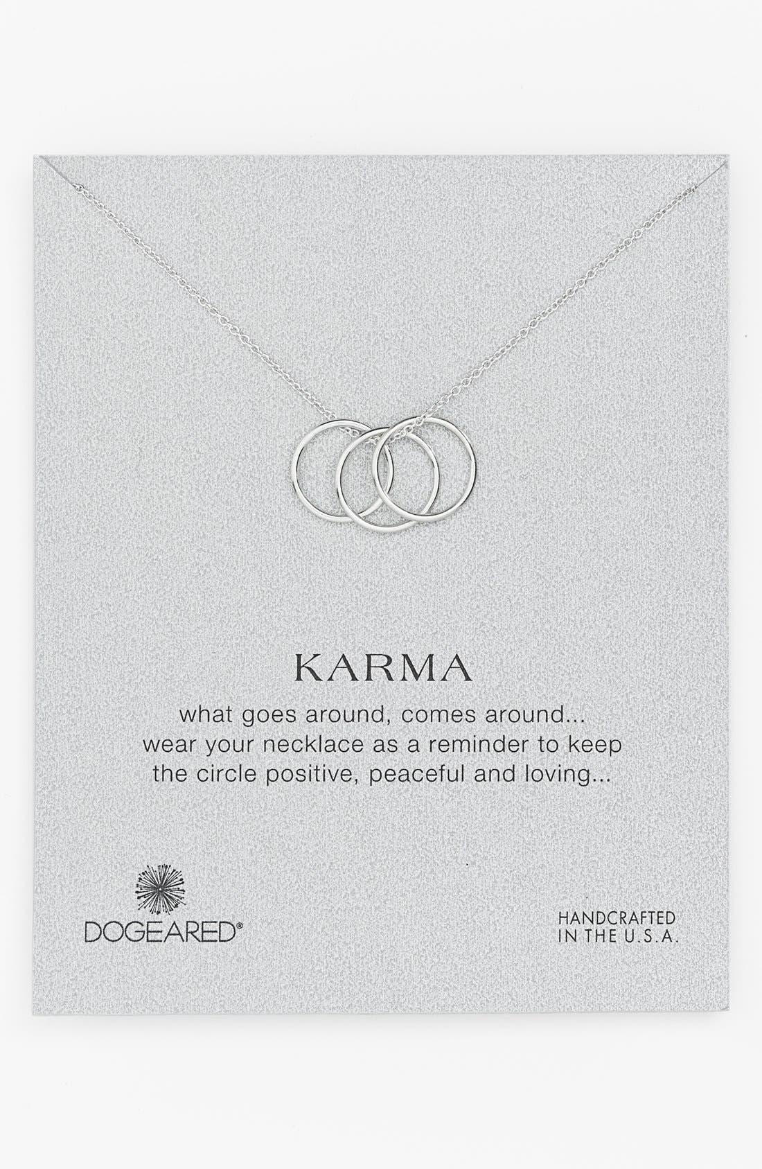 'Karma' Charm Necklace, Main, color, 040