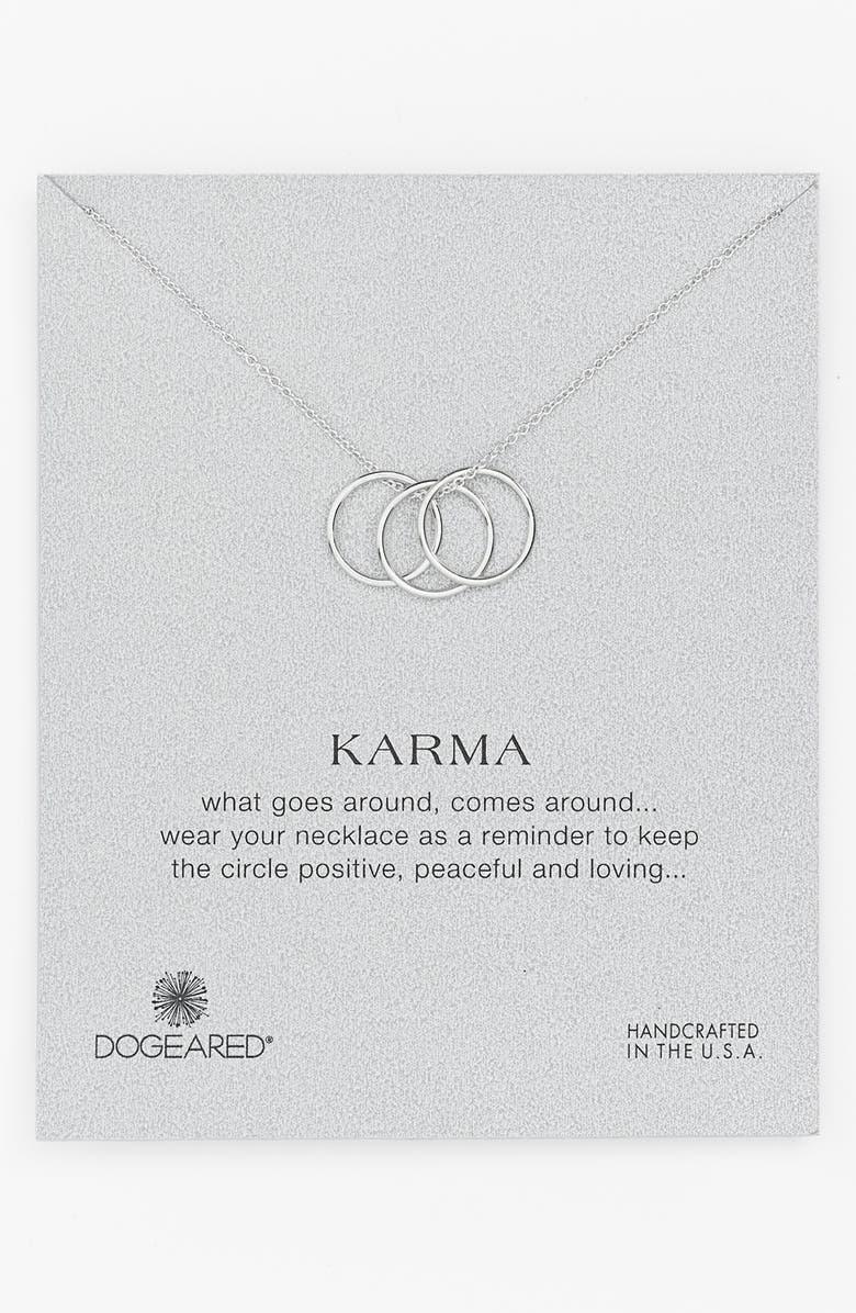 DOGEARED 'Karma' Charm Necklace, Main, color, 040