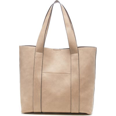 Sole Society Claudia Faux Leather Tote - Grey