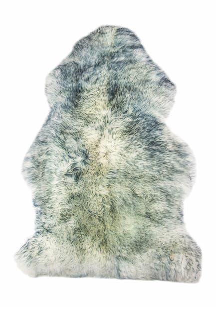 "Image of Natural Milan Genuine Sheepskin Shearling Throw 24"" x 36"" - Grey Mist"