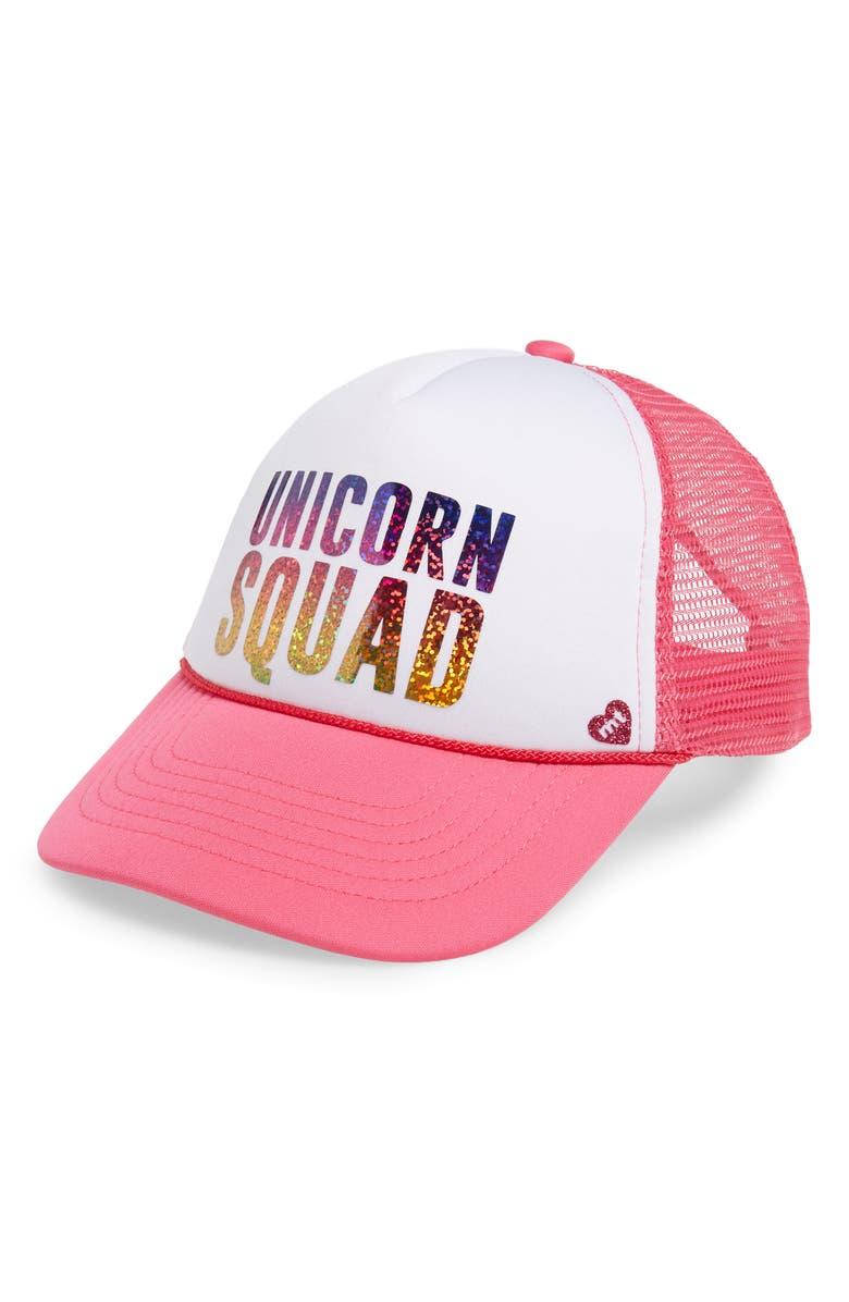 fb4ad8247 Mother Trucker & co. Unicorn Squad Trucker Hat (Kids) | Nordstrom